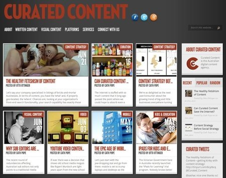 Multiple Author Content Curation with MyCurator