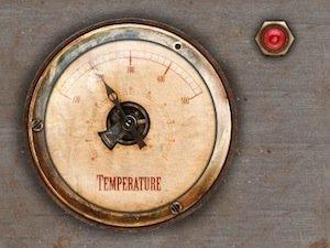 Image of Vintage Temperature Gauge